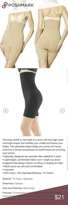 Booty Lifting Spanx  (Assest bySpanx) Sz L Worn twice. Not stretched out. I lost weight so need a smaller one. GREAT CONDITION  ? Also on m e ca r i   This seamless staple keeps you comfy as it tones and trims ? Zoned compression at midriff takes aim at toning your tummy ? Specially designed rear pockets offer added lift in back ? Lightweight, comfortable fabric won't weigh you down ?Legband-free design means no rolling or bulging on thigh ? Sleek yarns are soft and comfortable  ? Imported…