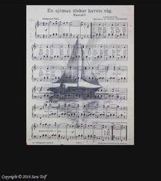 """E n  s j ö m a n"" Original Painting sold at my vernissage yesterday! #pencil #art #illustration #notes #boat #sailing #sailor #music #vintage #artistasy #drawsofinsta #old #musicsheet #sheetmusic #dailyarts #artistic_share #sharingart #artmagazine #art_spotlight #welkinart #artmaster #blackandwhite #swedish #artist #sweden #saratolfgallery #saratolf Original sold. You can buy my art in my web shop! Link in bio  www.saratolf.com by saratolfgallery"