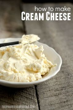 Healthy Recipes How to Make Cream Cheese: yes-- you really can make cream cheese at home! and it's easier than I thought! - Learning how to make cream cheese is easier than you think! And it'll make you feel like a homesteading rockstar in the process. Make Cream Cheese, Cream Cheese Recipes, How To Make Cheese, Milk Recipes, Real Food Recipes, Food To Make, Cooking Recipes, Yummy Food, Cooking Tips