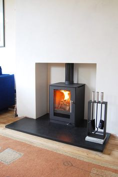 Excellent Screen Fireplace Hearth removal Suggestions Installing A Woodburning Stove Modern Room, Modern Dining Room, Living Room With Fireplace, Living Room Modern, Fireplace Hearth, Wood Burning Stoves Living Room, Modern Stoves, Stove, Wood Burning Fireplace
