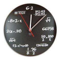GEEK, love this clock for a kids room and so easy to do. Wooden round, clock kit, chalkboard paint, chalk and a clear coat to keep it from smearing. #diy