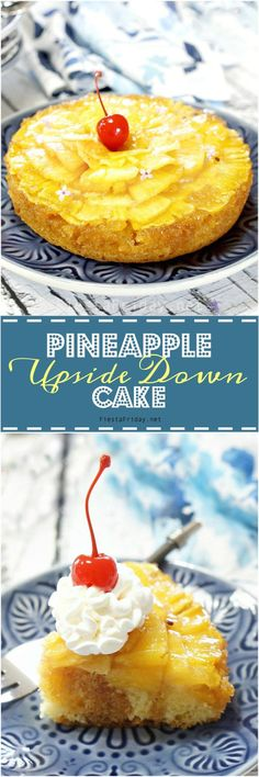 Pineapple Upside Down Cake is an old-fashioned favorite, but that doesn't mean it should be boring. Just give it a few tweaks, et voilà! It's a classic with a twist! | FiestaFriday.net