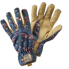 general purpose gardening gloves in the popular strawberry thief design one size