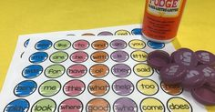 My students LOVED playing this game during summer school to review their sight words. All you need is CLEAN milk caps, Mod Podge, pai...
