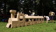 15 Ideas of Cardboard Trains That Your Kids Will Love