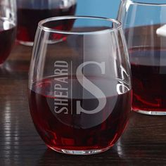 Oakhill Stemless Etched Wine Glass - Gift for Wine Lovers, Personalized Wine Glass, Engraved Wine Glass, Wedding Gift Idea, Red Wine Glass Etched Wine Glasses, Personalized Wine Glasses, Etched Glass, Custom Wine Glasses, Monogram Wine Glasses, Personalised Wine, Gifts For Wine Lovers, Engraving Ideas, Glass Engraving