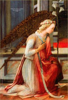 Detail of the Archangel Gabriel FRA FILIPPO LIPPI