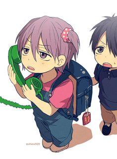 Murasakibara Atsushi x Himuro Tatsuya 紫原 敦 x 氷室 辰也 [紫氷]   Kuroko no Basuke   ♤ Anime ♤ Chibi