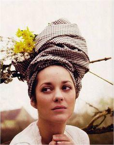 turban, marion cotillard