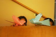 Two Little Dickie Birds - bird finger puppet