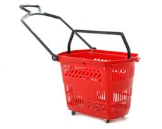 Shopping baskets in a choice of bold colours