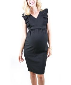 Black Eden Maternity Dress by Madeleine Maternity on #zulily
