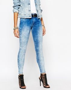 ca62e7908ac Replay Joy High Waist Faded Super Skinny Jeans. Erika Fernandez Cortes