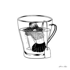 Tea Time by Henn Kim...I love this, if it were coffee time, it would definitely be me!