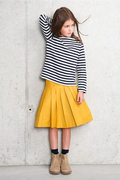 Love the pop of yellow and the stripes! #dresslikeagirl