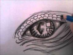 Video - Drawing a dragon eye Realistic Eye Drawing, Dragon Sketch, Beautiful Dragon, 5th Grade Art, Dragon Eye, Arts Ed, Drawing Challenge, Art Tutorials, Drawing Tutorials
