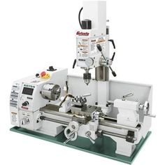 Grizzly Industrial 8 in. x 16 in. Lathe with Milling – The Home Depot – Woodworking 2020 Milling Machine, Machine Tools, Router Machine, Benchtop Lathe, Used Woodworking Tools, Woodshop Tools, Lathe Tools, Grizzly Woodworking, Unique Woodworking