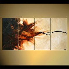 Large Contemporary Painting Modern Art on Canvas by OsnatFineArt, $709.00