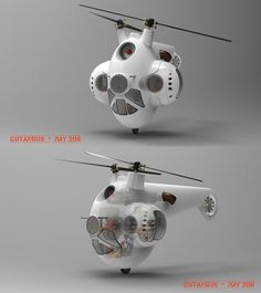 TURRETED HELICOPTER by CUTANGUS.deviantart.com on @deviantART