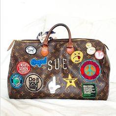 Anya Hindmarch Stickers on Louis Vuitton Speedy Bag <3 @benitathediva