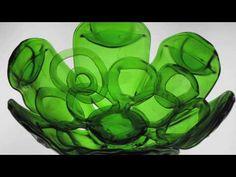 bentbottle: Recycled glass art by Bryan Northup Melted Wine Bottles, Wine Bottle Corks, Wine Bottle Crafts, Bottles And Jars, Bottle Art, Slumped Glass, Recycled Glass Bottles, Making Glass, Art Deco Glass