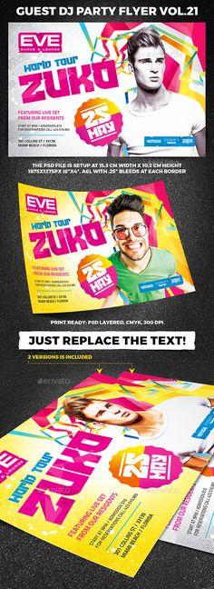 Guest DJ Party Flyer vol.21