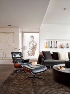 I want an eames lounger and i like the art in the window behind