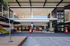 Newton Junction, a 85 000 sqm shopping and hotel complex, is set in the vibrant and edgy Newtown Cultural Precinct in the North West of Johannesburg CBD. The architecture is simple and direct, reinterpreting the brickwork and lightweight industrial aesthetic of the surrounding historic fabric. #dhk #NewtonJunction #Johannesburg #architecture #architects #design #buildings #CapeTown #cityscape #facade Brickwork, North West, Architects, Facade, Buildings, Vibrant, Industrial, Simple, Fabric