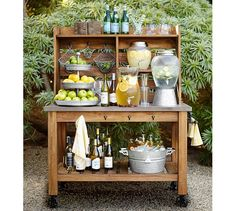 The Abbott Island Buffet Hutch pairs the rugged, casual look of concrete with hand-finished reclaimed acacia.