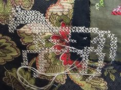 Still exploring mixing up cross stitch in to my textile collages. Find the filling in parts ever so slightly boring!