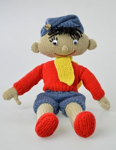 This classic Disney Noddy knitting pattern will bring joy to any childhood and makes a great soft toy. Knitting Designs, Knitting Patterns Free, Free Knitting, Knitting Projects, Free Pattern, Sewing Patterns, Knitting Toys, Knit Patterns, Knitted Dolls