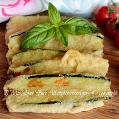 Zucchine pastellate da congelare per parmigiane e involtini. Pastella per zucchine croccanti fuori e morbide dentro da congelare e conservare per l'inverno