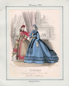Day Dresses, February 1865 (source: Casey Fashion Plates @ LA Public Library)