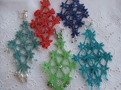 ORECCHINI  UNCINETTO stelline, by maglieria magica, 11,50€ su misshobby.com