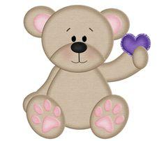 """Photo from album """"Bee my honey"""" on Yandex. Purple Teddy Bear, Teddy Bear Hug, Tatty Teddy, Cute Teddy Bears, Valentines Day Cartoons, Valentine Cartoon, 1 Clipart, Bear Clipart, Teddy Bear Images"""