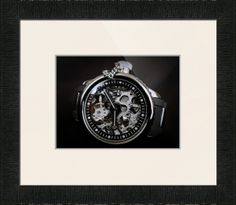"""Invicta Russian Diver Mechanical Skeleton Watch $96 // Paper: enhanced matte; Glazing: acrylic; Moulding: black, black lacquer; Top Mat: white/cream, gallery white; Size: Petite 19.25"""" x 21.25"""" // Customize at http://www.imagekind.com/Invicta-Russian-Diver-Mechanical-Skeleton_art?IMID=e3b6efc6-0a22-44a8-ae0e-e7de295e2c0b"""
