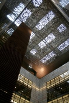 Filtered light through the roof, King Abdullah University of Science and Technology, Saudi Arabia