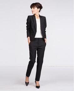 2dea86bd3758b Veste femme - Veste tailleur. Robe 2015 · Pantalon Noir · Vestes Habillées  ...