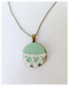 Turquoise Necklace/ Vintage Necklace/ Vintage Pendant/ beautiful Handmade Item on Etsy, 22,00$