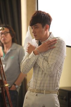 So Ji Sub on the set of The Master's Sun
