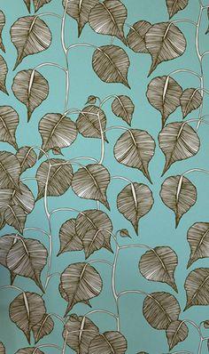 Swedish Leaf, wallpaper by Camilla Mejer