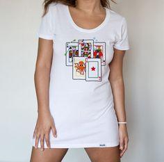 Camiseta baraja de cartas (Mujer)