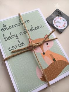 Baby milestone cards alternative baby milestone by byMollyandIzzie