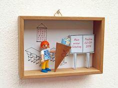 Schultüten - Schulanfang in Miniatur-Szenenbild - ein Designerstück von ideen-spinnerin bei DaWanda