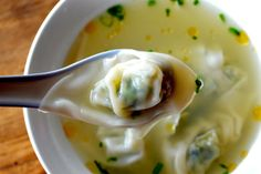 Simple Wonton Soup by thewoksoflife #Soup #Wonton #Easy