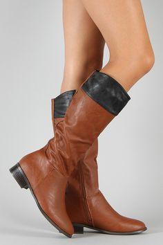 Bamboo Asiana-62 Two Tone Riding Knee High Boot #urbanog #urbanogwishlist #wishlist