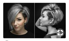 If you are ready for a new haircut then you should definitely give short haircut styles for women a try and you may be surprised at how many heads you turn with your new short hairstyle. Haircut Styles For Women, Short Haircut Styles, Short Styles, Pelo Color Plata, Haircut And Color, Hair 2018, Great Hair, Silver Hair, Short Hair Cuts