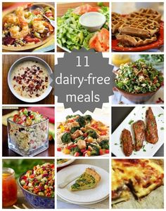 11 Dairy Free Recipes #lactosefree