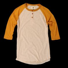 UNIONMADE - farm tactics - Multicolored Baseball Tee in Gold $55