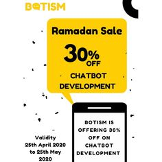 🎊RAMADAN SALE IS LIVE!!🎉 Hi!! Are you restaurant owner or a service provider? Get your 🤖Chatbot development in discounted rates💴 NOW!! Contact us for more Details : 📲 Whatsapp: 👉 wa.me/923473600866 ☎️ Phone: 👉 03473600866 📧 Email: 👉 connectbotism@gmail.com  #botism #chatbot #ai #aibots #aichatbot #advertising #Agency #digitalmarketing Restaurant Owner, Advertising Agency, Ramadan, Digital Marketing, You Got This, Photo And Video, Live, Phone, Amazing
